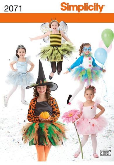 Simplicity 2071 carnavalskostuums met tutu meisjes