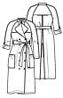 Knipmode 0220 - 20 Trenchcoat/jurk