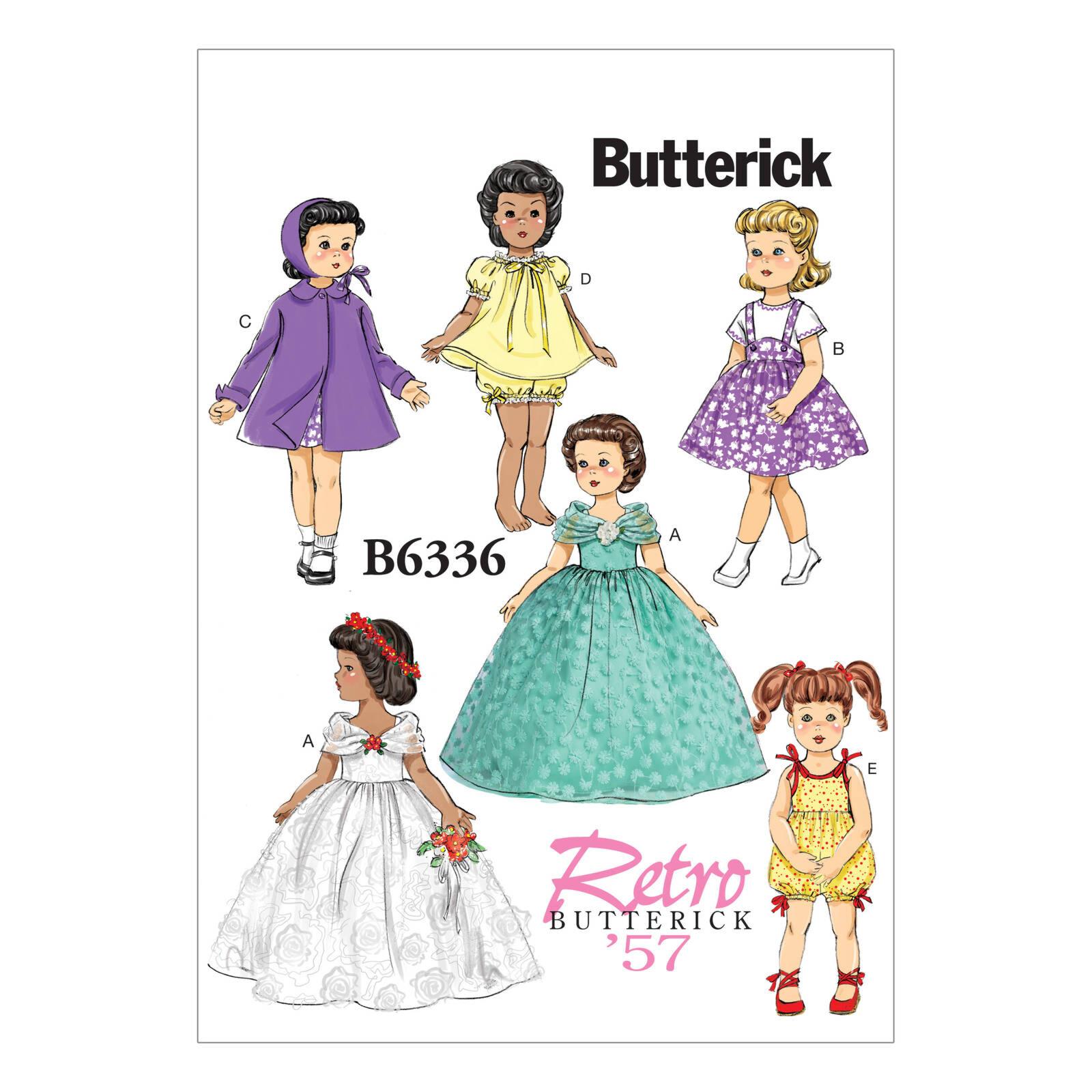 Butterick - B6336 Poppenkleertjes