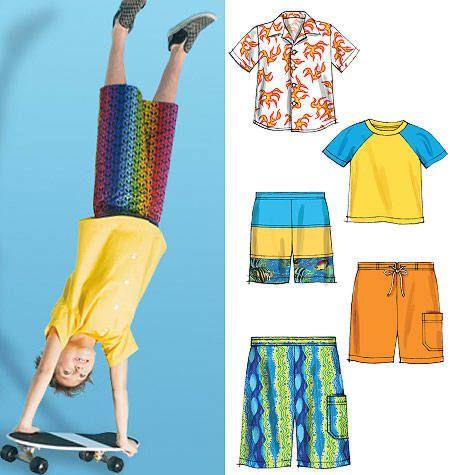 McCalls 6548 Jongens blouse, broek in 3 variaties en shirt