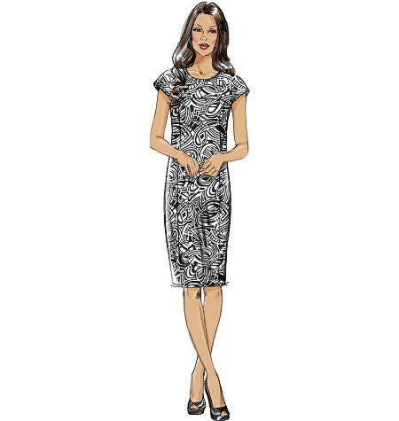 Vogue 8786 jurk met schouderpas