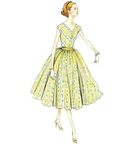 Vogue 8789 vintage jurk uit 1957