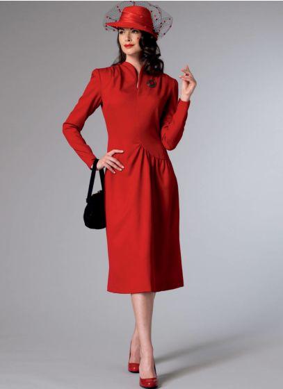 Butterick - B6374 asymmetrische dames jurk