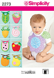 Simplicity 2273 Fruitige babyslabbetjes