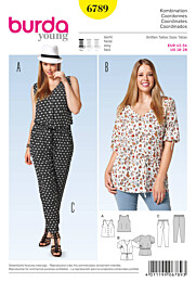 Burda - 6789 broek, top, blouse