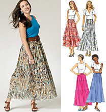 Butterick - B5757 Rok in vier variaties
