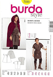 Burda - 7333 Robin Hood - cape en shirt