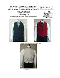 Bijoux 3 Men's single breasted notched collar vest