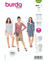 Burda - 6113 top en jurk