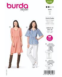 Burda - 6129 jurk en tuniek