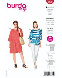 Burda - 6139 jurk en tuniek