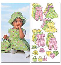 Butterick 5624 babykleertjes zomer