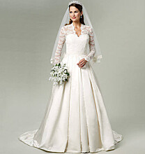 Bruidsjurk wedding dress Kate Middleton Royal Wedding 2011 naaipatroon