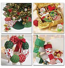McCalls 6453 kerstdecoratie van quiltstoffen
