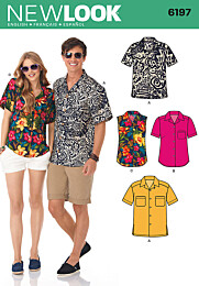 New Look 6197 - Unisex zomershirt in variaties.