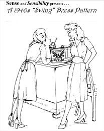 "Sense and Sensibility - 1940s ""Swing"" Dress Pattern"