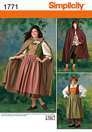 Simplicity 1771 jurk en cape