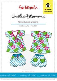 Farbenmix Unella-Blomma wikkeltuniek en korte broek