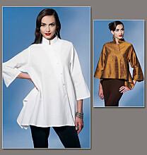 Vogue 1274 Kort zeer wijd jasje in 2 variaties