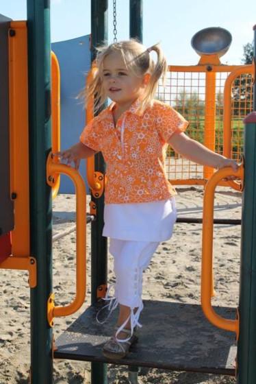 Abacadabra 134 patroon jurk, shirt, rokje en broek
