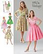 Simplicity - 1459  patroon Vintage jurk