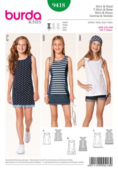 Burda - 9418 Top en jurk