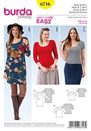 Burda - 6716 jurk en shirt