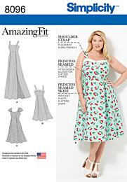Simplicity - 8096 Plussize jurk