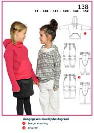 Abacadabra patroon 138 capuchonsweater en broek