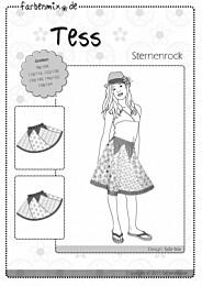 Farbenmix Tess meisjesrok patchwork