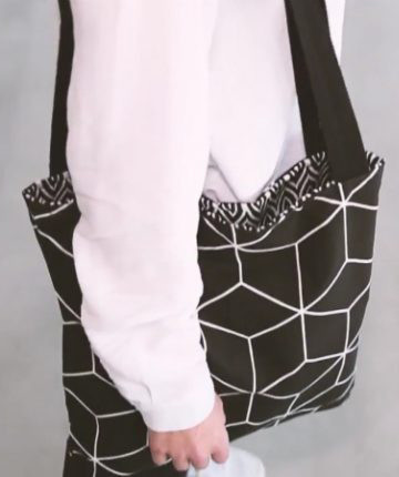 Knipmode - Reversible tote bag