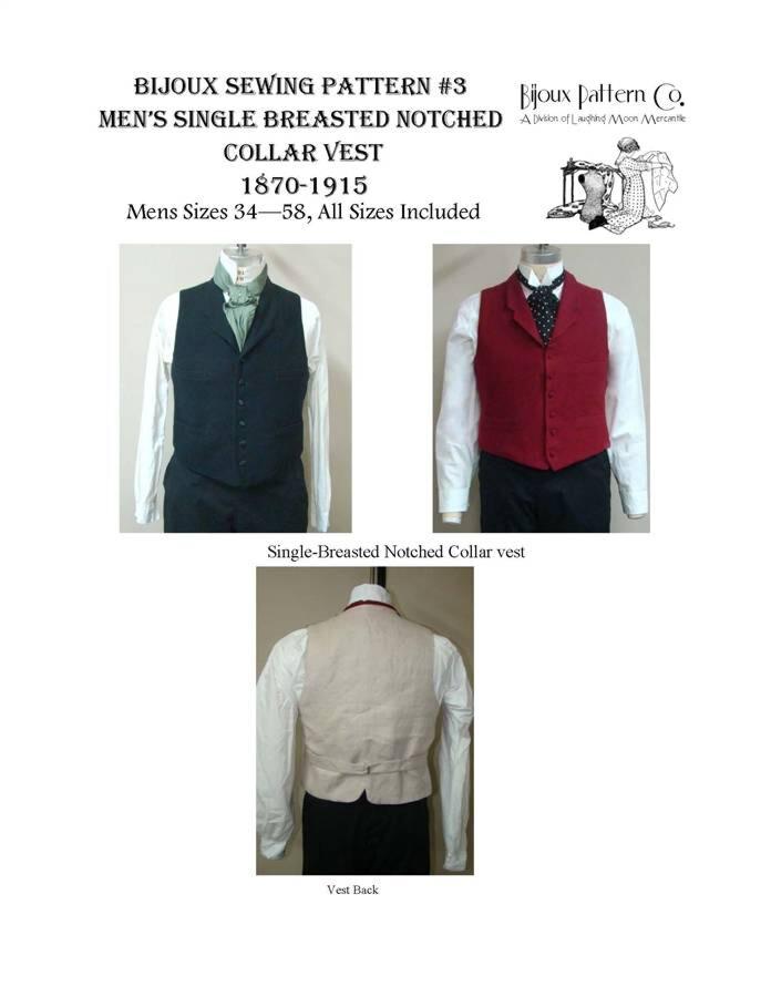 Bijoux 3 Men's single breasted notched collar vest