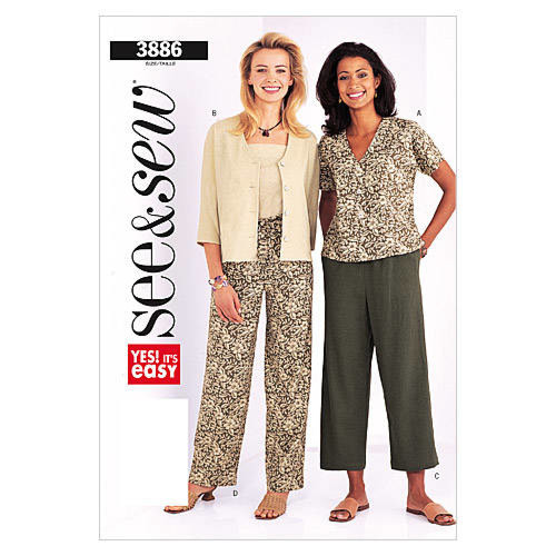 Butterick See & Sew - 3886