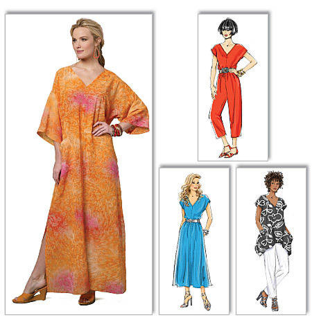 Butterick 5652 Top, jurk, jumpsuit, broek en kaftan