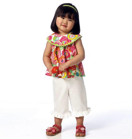 Butterick - B6047 Top, jurk, korte broek en broek