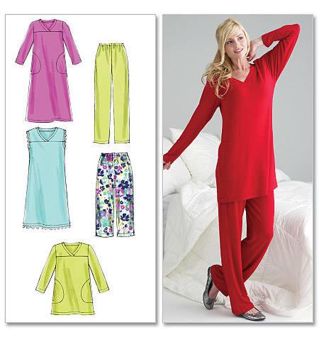 McCalls 6474 Damespyjama en nachtjapon
