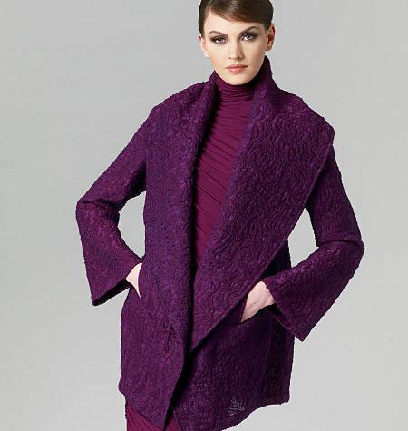 Vogue 1263 jasje mantel Donna Karan