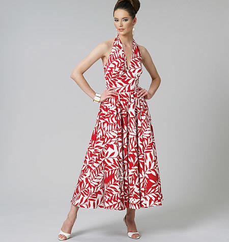 Vogue 8727 mouwloze jurk en halterjurk