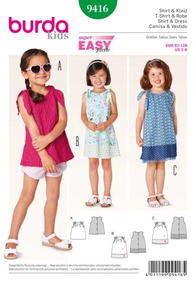 Burda - 9416 Top en jurk