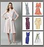 Vogue 8766 Gevoerde jurk met 2 lagen stof
