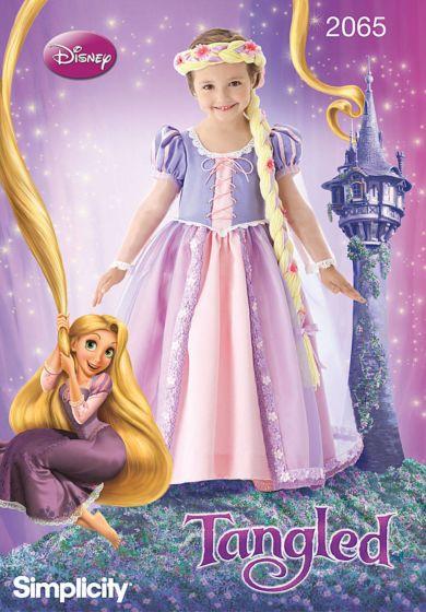 Simplicity 2065 Disney Tangled prinsessenjurk