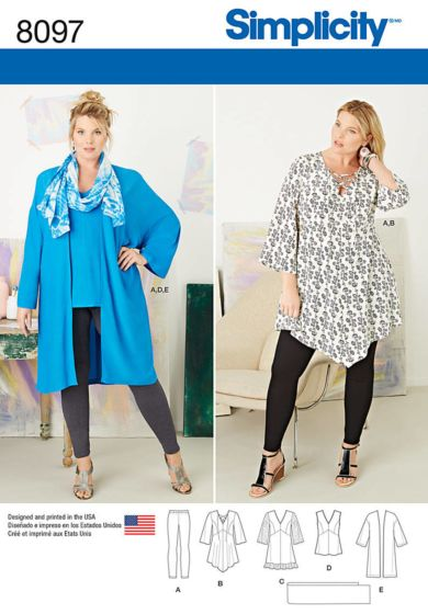 Simplicity - 8097 tuniek, top, legging