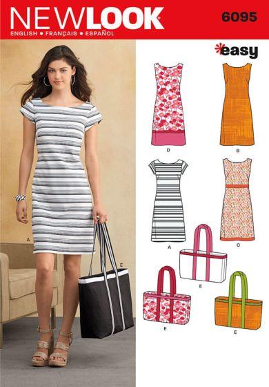 New Look 6095 jurk en boodschappentas