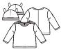 Knippie 0519 - 5 T-shirt met mutsje