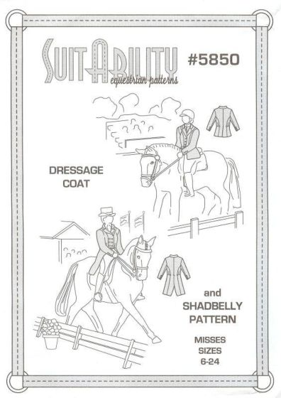SuitAbility 5850 dressuurjasje met of zonder slip
