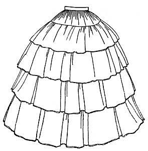 TV241 1854 Flounced Skirt