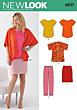 New Look - 6217 patroon voor tops, jasje, broek en rok
