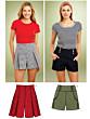 KwikSew 3854 shorts patroon