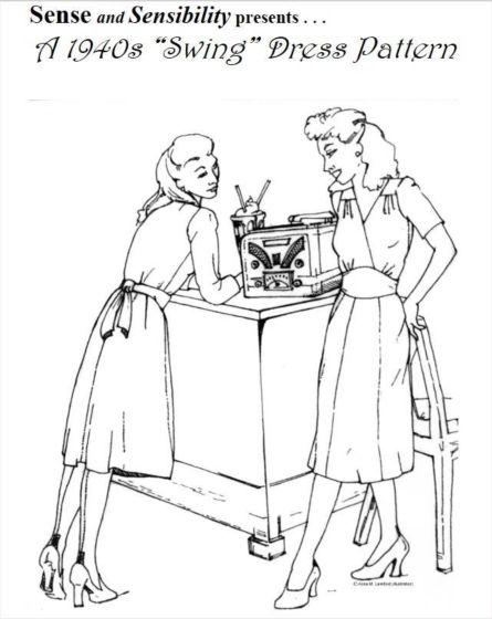 """Sense and Sensibility - 1940s """"Swing"""" Dress Pattern"""