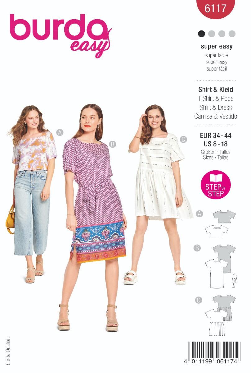Burda - 6117 jurk en top